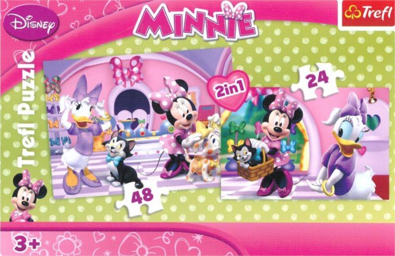 TREFL Puzzle Minnie 24+48 dílků