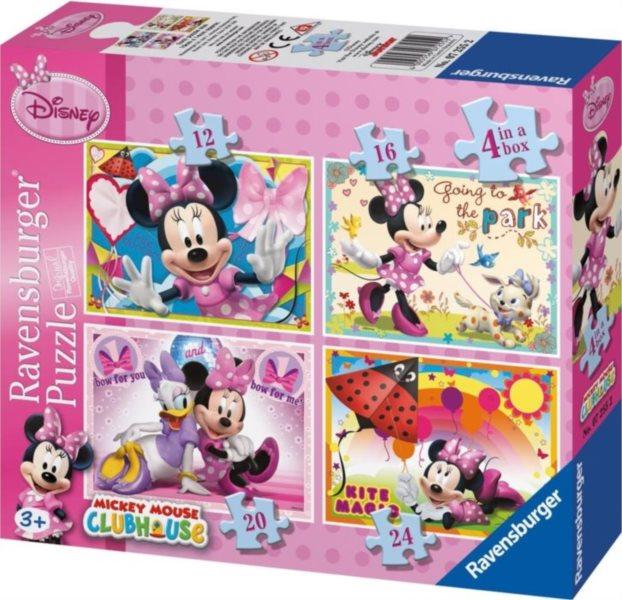 RAVENSBURGER Puzzle Minnie 4v1 (12,16,20,24 dílků)