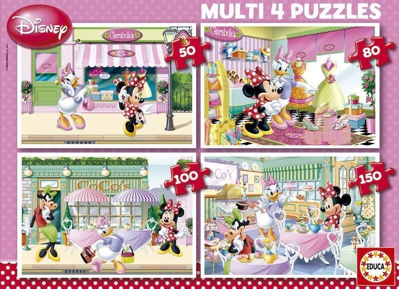 Puzzle pro děti 4v1 EDUCA - Minnie (50-150 dílků)