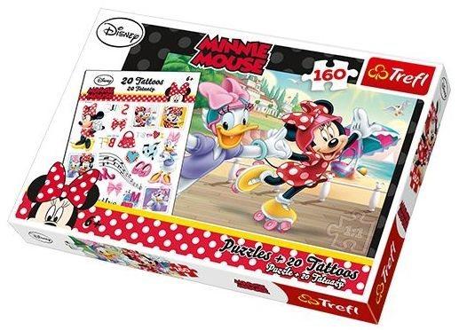 TREFL Puzzle s tetováním Minnie a Daisy na bruslích 160 dílků