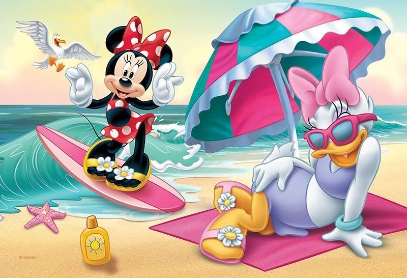 TREFL Puzzle Minnie a Daisy na pláži 54 dílků