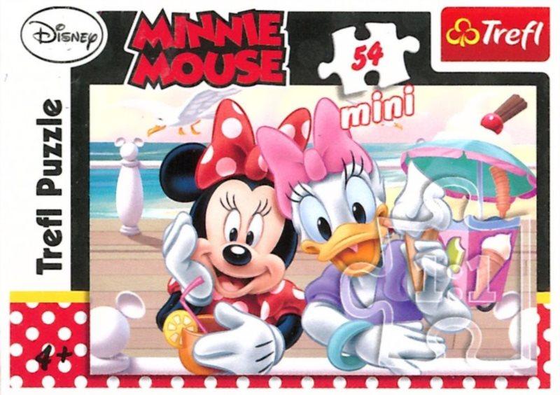TREFL Puzzle Minnie a Daisy na zmrzlině 54 dílků