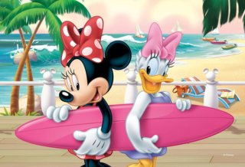 TREFL Puzzle Minnie a Daisy se surfem 54 dílků