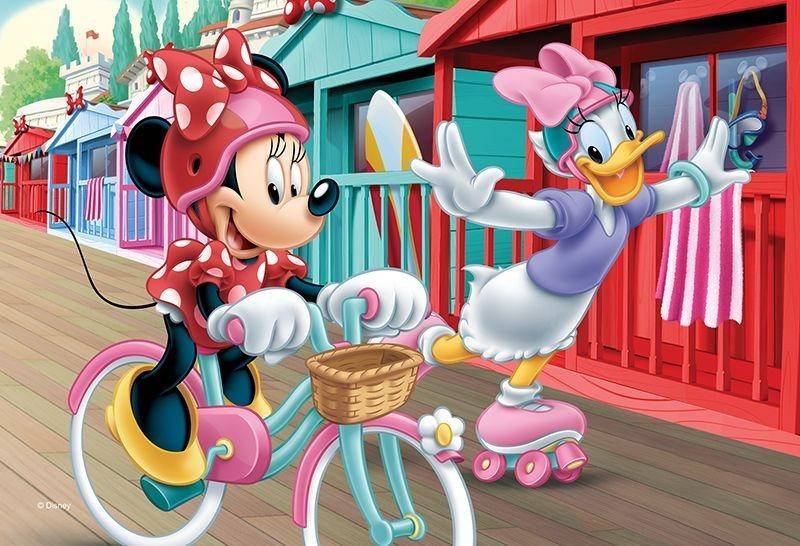 TREFL Puzzle Minnie a Daisy sportují 54 dílků