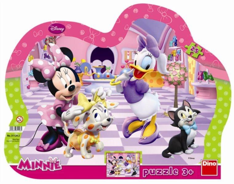 DINO Puzzle Minnie a mazlíčci 25 dílků