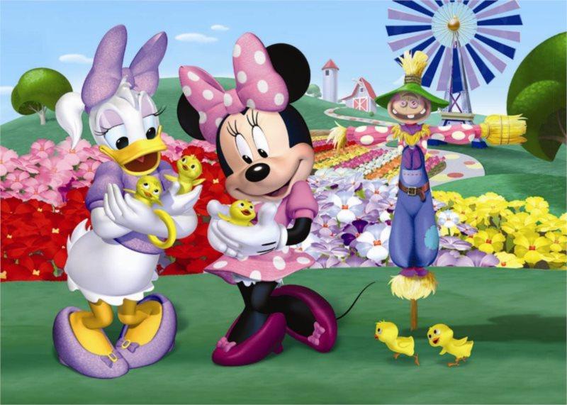 DINO Puzzle Minnie, Daisy a kuřátka MAXI 24 dílků