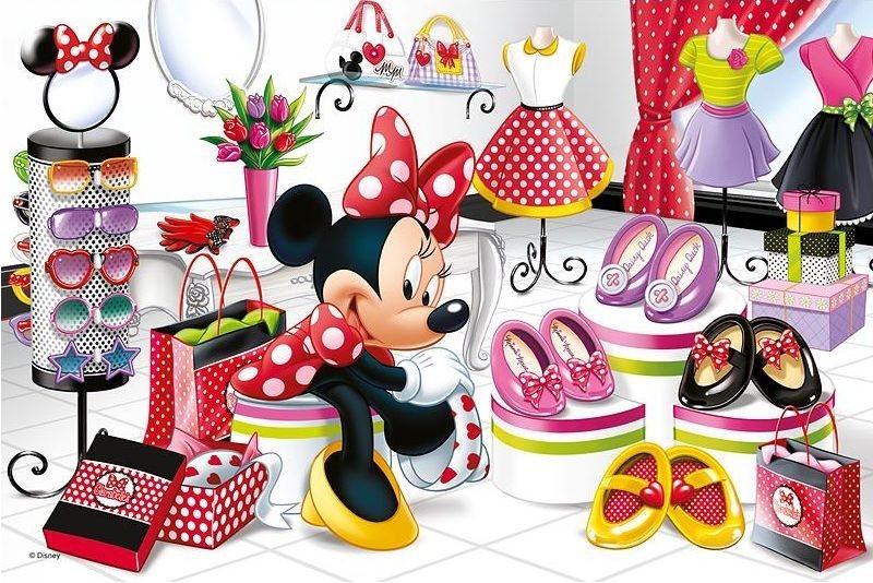 TREFL Puzzle Minnie Mouse: Nákupy 60 dílků
