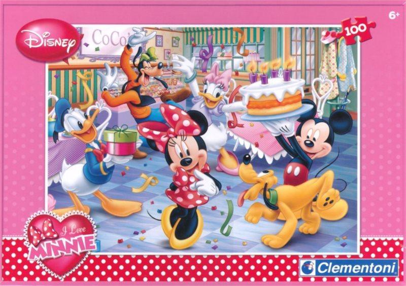 CLEMENTONI puzzle Minnie Narozeninová oslava 100 dílků