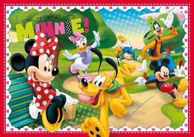 CLEMENTONI puzzle Minnie Pěkné odpoledne 104 dílků