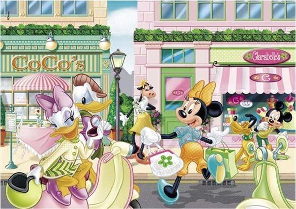 CLEMENTONI puzzle Minnie Slunný den 104 dílků
