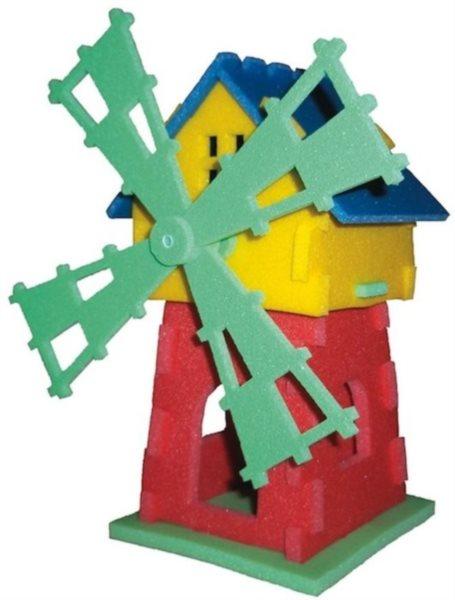 MALÝ GÉNIUS 3D puzzle Mlýn 22 dílků