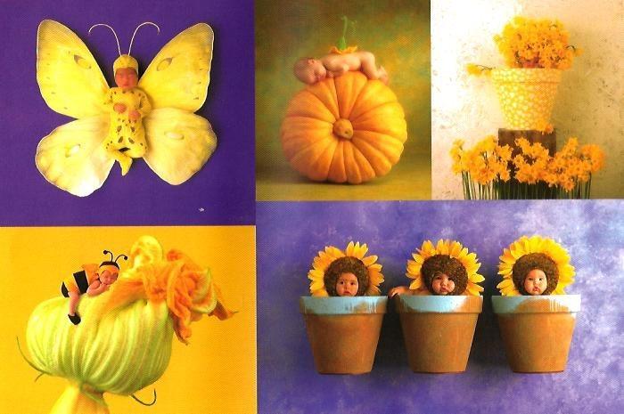 Puzzle SCHMIDT 6000 dílků - Anne Geddes, Modro žlutá kompozice