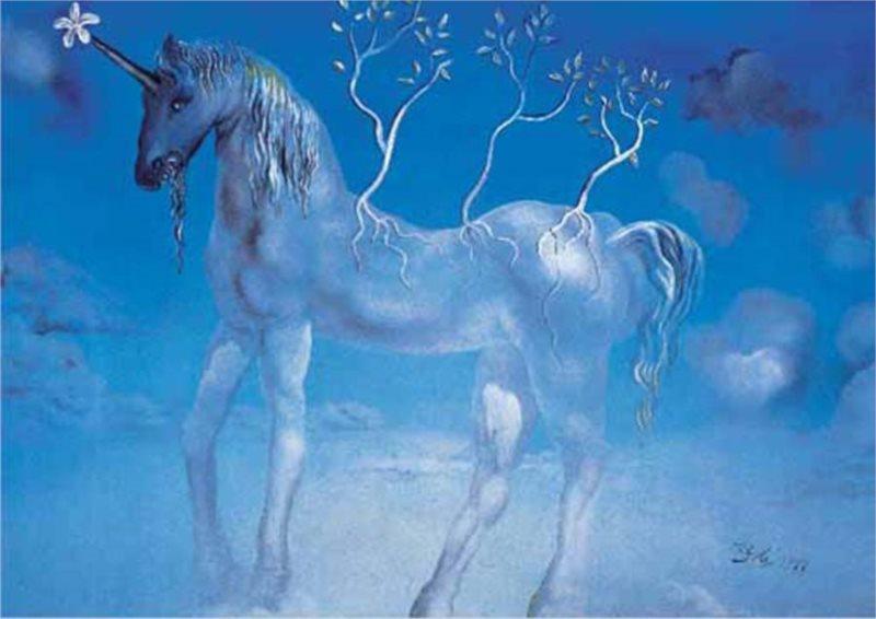 Puzzle EDITIONS RICORDI 1500 dílků - Dalí, Modrý jednorožec