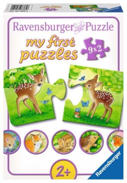Puzzle pro nejmenší RAVENSBURGER 07365 Lesní zvířátka