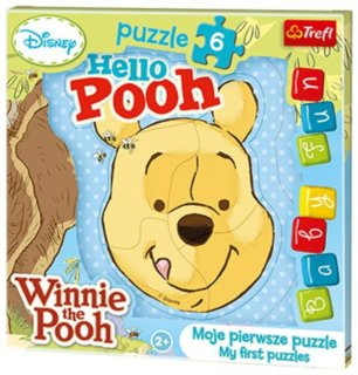 TREFL Moje první puzzle: Medvídek Pú 6 dílků