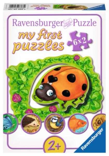 RAVENSBURGER Moje první puzzle Zvířátka na louce 6x2 dílky