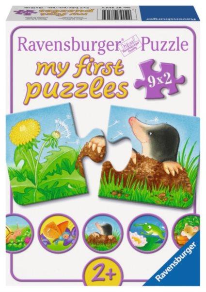 RAVENSBURGER Moje první puzzle Zvířátka na zahrádce 9x2 dílky