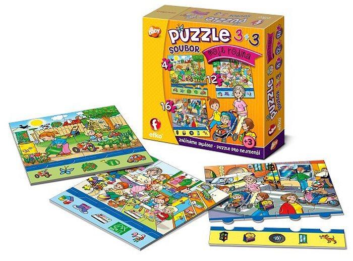 EFKO Puzzle Moje rodina 3v1 (4,12,16 dílků)