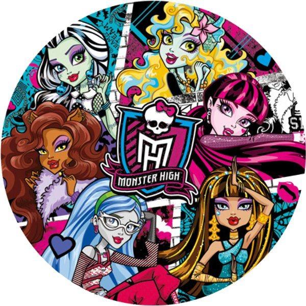 CLEMENTONI Kulaté puzzle Monster High: Ďábelské 500 dílků