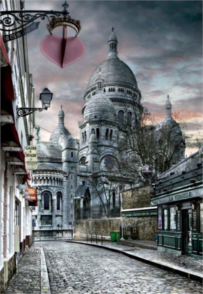 EDUCA 15980 Montmartre, Paříž - puzzle 1000 dílků