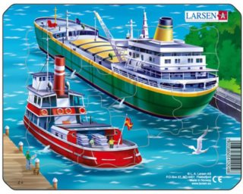 LARSEN Puzzle Moře: Lodě 11 dílků