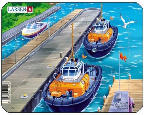 LARSEN Puzzle Moře: Přístavní molo 11 dílků