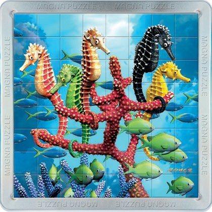 3D magnetické puzzle PIATNIK 64 dílků - Mořští koníci