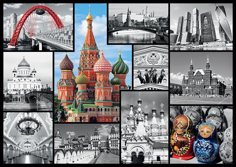 TREFL Puzzle Moskva - koláž 1000 dílků