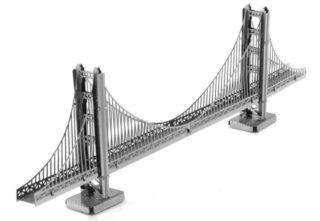 3D kovové puzzle METAL EARTH Most Golden Gate, San Francisco