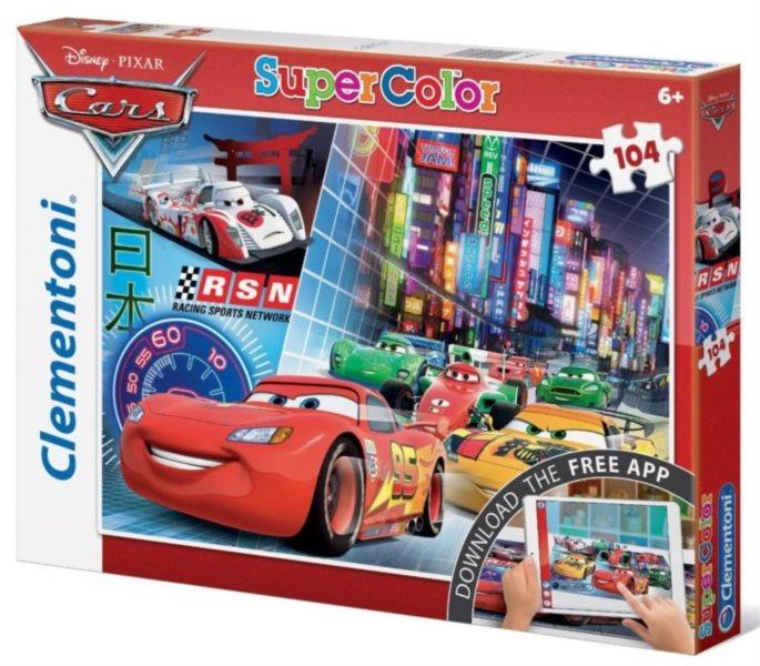 CLEMENTONI Multimediální puzzle Auta 104 dílků