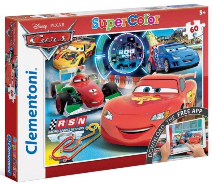 CLEMENTONI Multimediální puzzle Auta 2: Startujeme 60 dílků