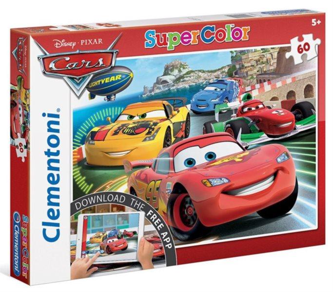 CLEMENTONI Multimediální puzzle Auta 2: Závod 60 dílků