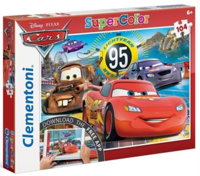 CLEMENTONI Multimediální puzzle Cars 104 dílků