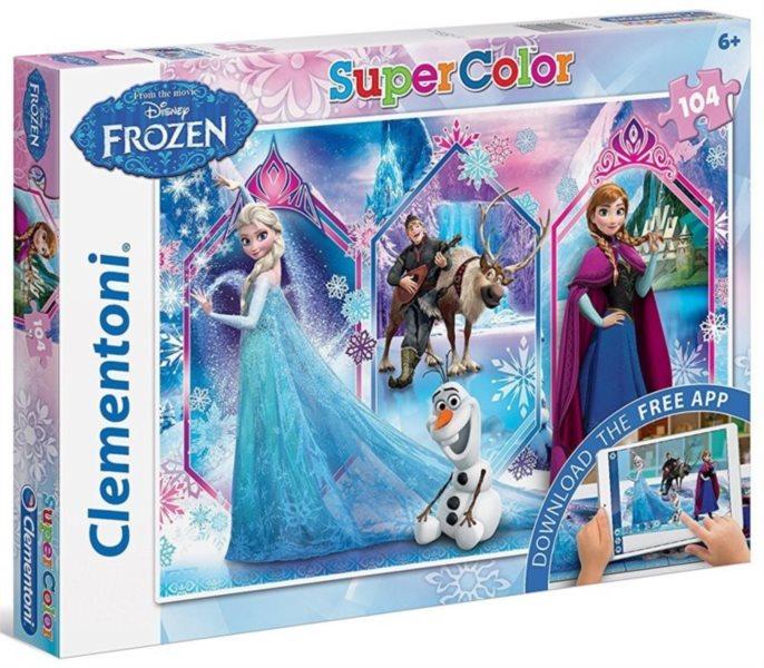 CLEMENTONI Multimediální puzzle Ledové království 104 dílků