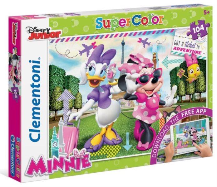 CLEMENTONI Multimediální puzzle Minnie a Daisy cestují 104 dílků