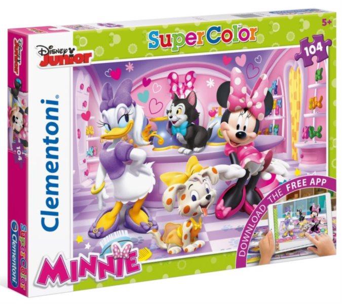 CLEMENTONI Multimediální puzzle Minnie a Daisy s mazlíčky 104 dílků