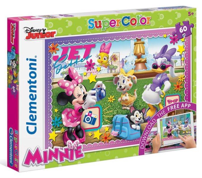 CLEMENTONI Multimediální puzzle Minnie: Dovolená 60 dílků