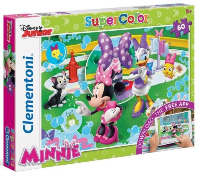 CLEMENTONI Multimediální puzzle Minnie: Koupání 60 dílků