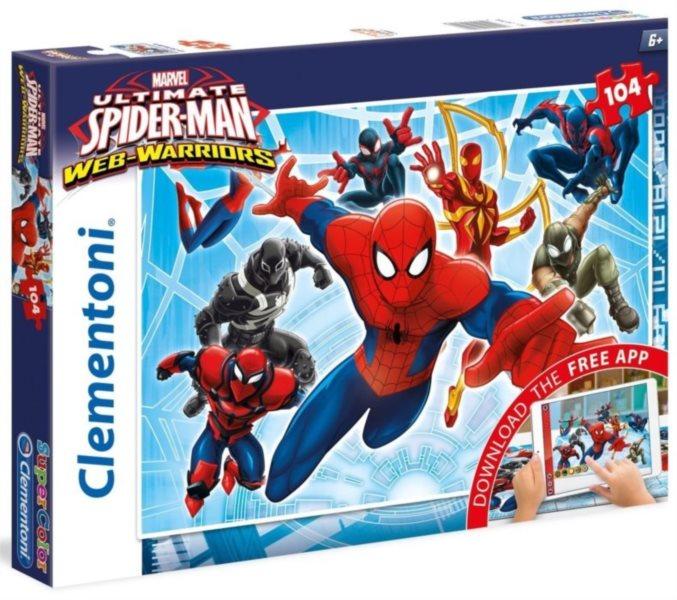 CLEMENTONI Multimediální puzzle Spiderman 104 dílků