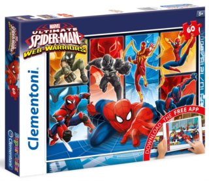 CLEMENTONI poškozený obal: Multimediální puzzle Spiderman: Do boje! 60 dílků