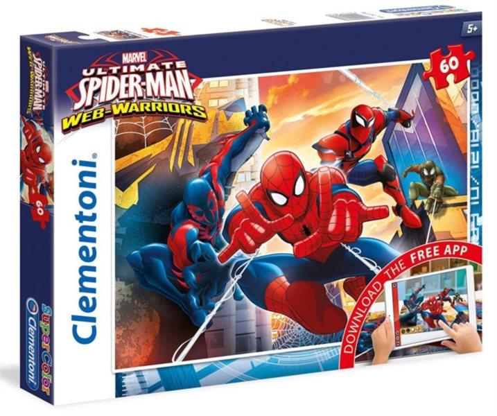 CLEMENTONI Multimediální puzzle Spiderman: Jsme tým 60 dílků