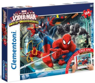 CLEMENTONI Multimediální puzzle Ultimate Spiderman 104 dílků
