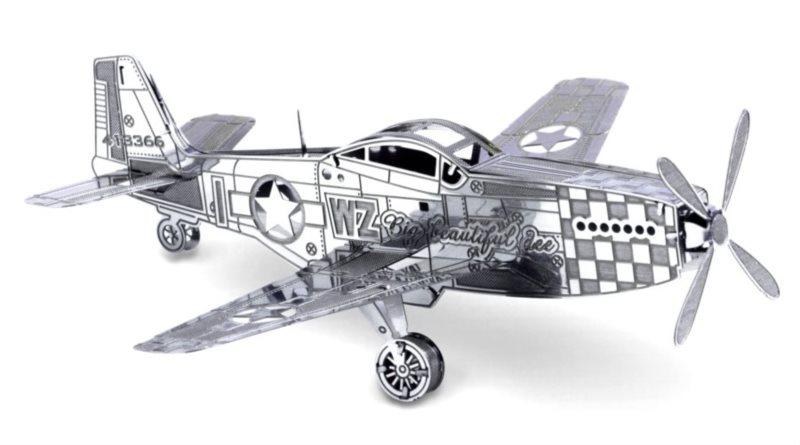 3D kovové puzzle METAL EARTH Letadlo Mustang P-51