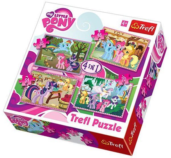 TREFL Puzzle pro děti 4v1 - My Little Pony (35,48,54,70 dílků)