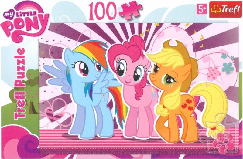 Puzzle pro děti TREFL 100 dílků - My Little Pony: Tři přátelé