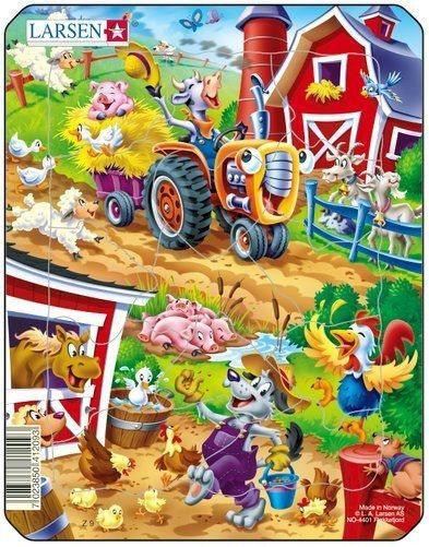LARSEN Puzzle Na farmě 14 dílků