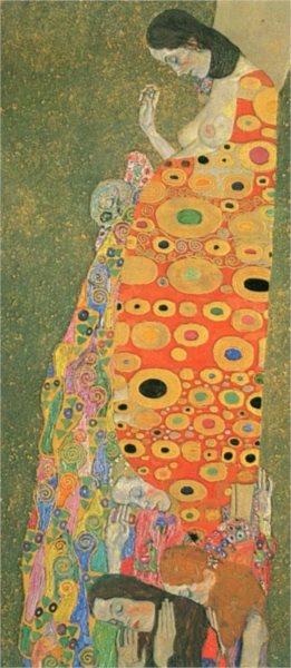 Panoramatické puzzle EDITIONS RICORDI 1000 dílků - Klimt, Naděje II.