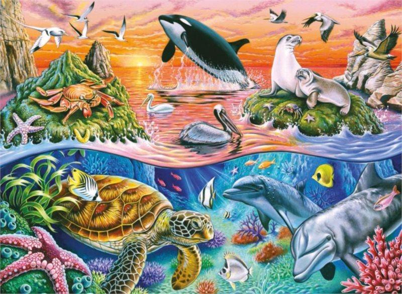 RAVENSBURGER Puzzle Nádherný oceán XXL 100 dílků