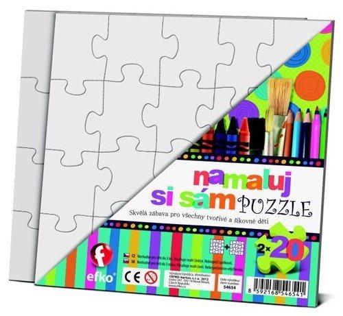EFKO Namaluj si sám puzzle - malý čtverec