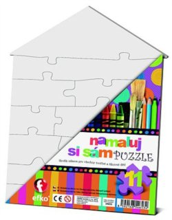 EFKO Namaluj si sám puzzle - domeček